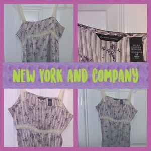 New York and Company silk tank size 14